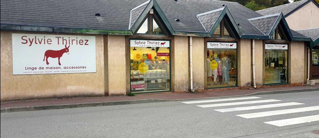 Le magasin Sylvie Thiriez à Saint-Pierre du Vauvray