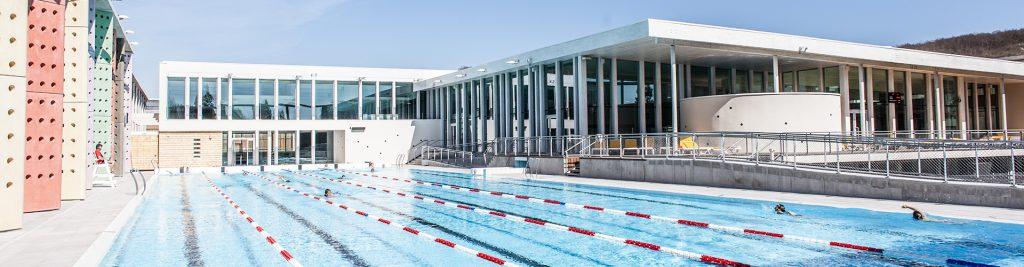 Caséo, un bassin de 50 m, deux bassins de 25 m, des bassins ludiques et détente