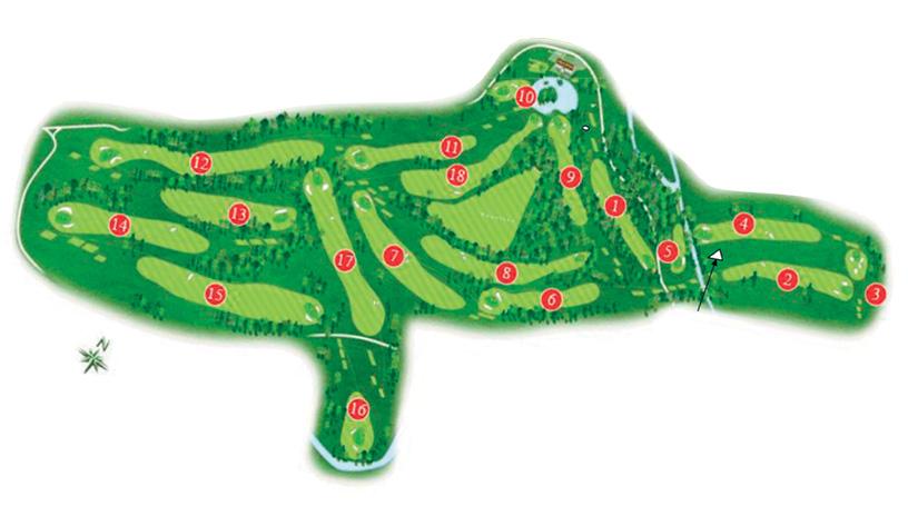 golf du Vaudreuil, le plan du parcours