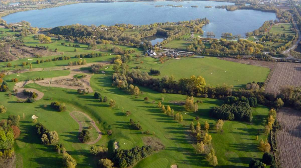 Le golf de Léry-Poses vu du ciel