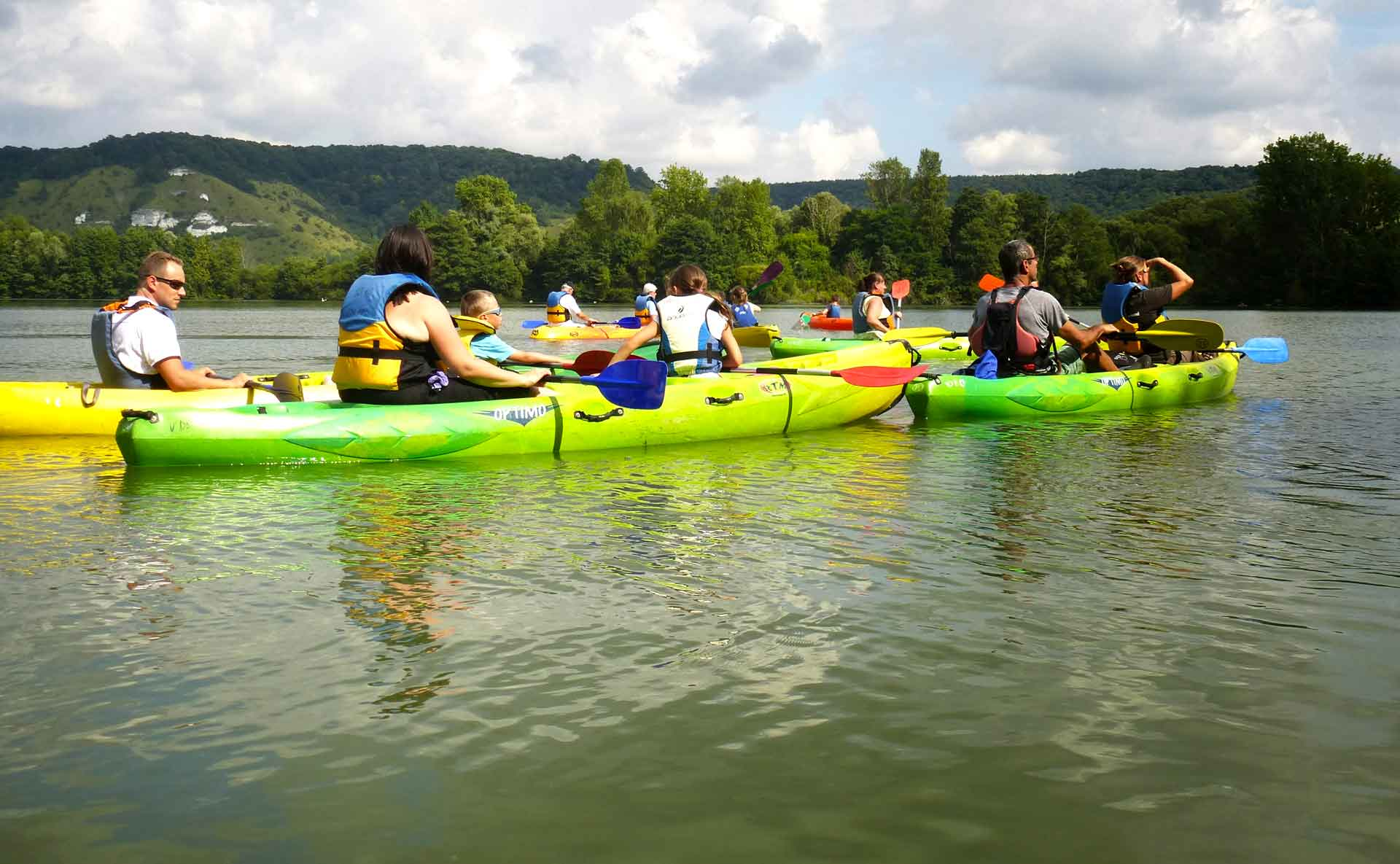 location de kayak sur l'Eure