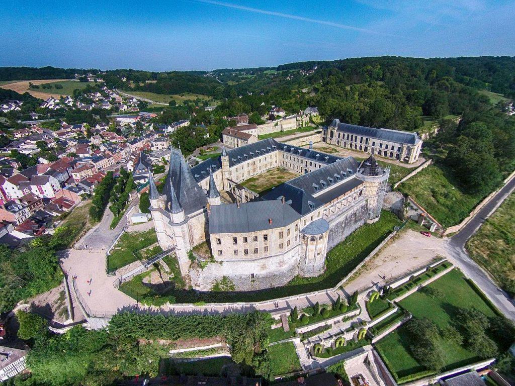 Le château de Gaillon vu du ciel
