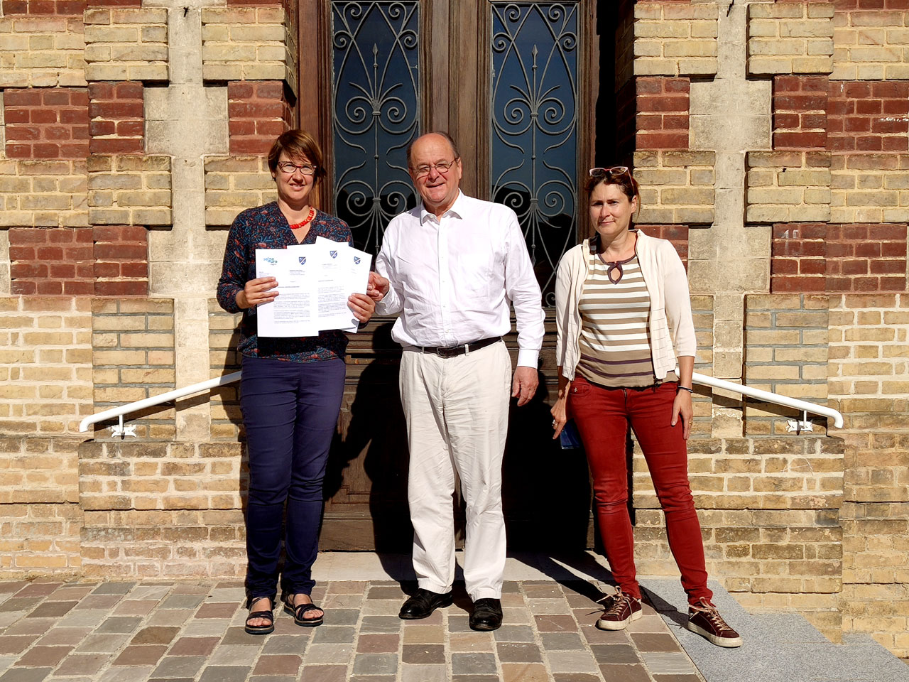 Bernard Leroy, Laetitia Sanchez et Anne Bérichi