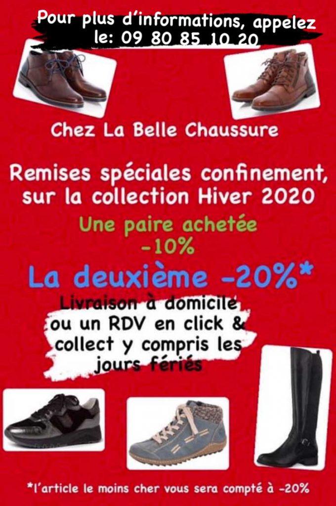 Remises spéciales confi,ement sur la collection Automne-Hiver chez La Belle Chaussure