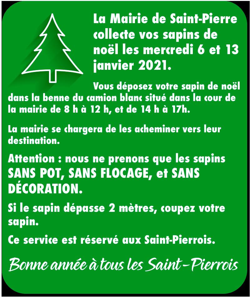 collectes des sapins de Noël à Saint-Pierre du Vauvray
