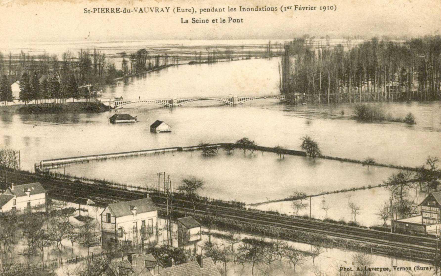 crue 1910 à Saint-Pierre du Vauvray