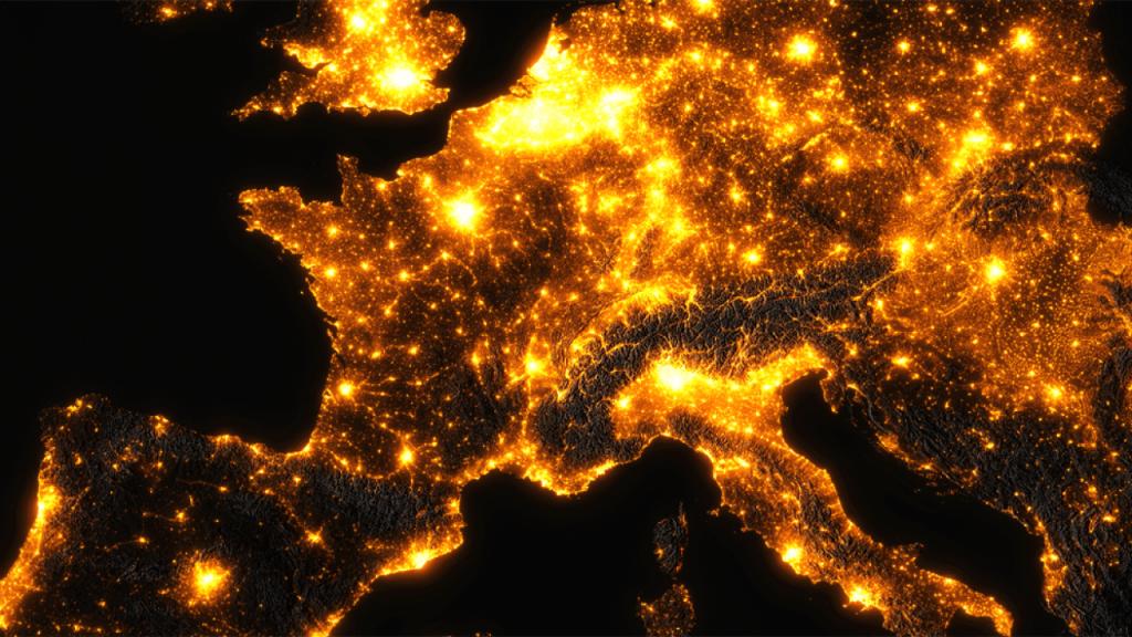 pollution lumineuse et trame noir